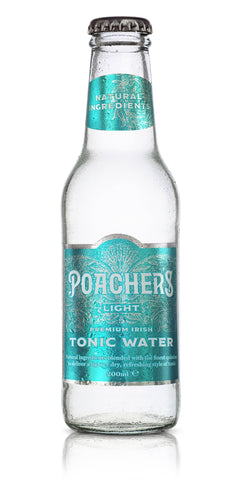 A bottle of Poacher's Light Tonic Water