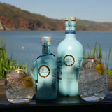 Bottles of Sea Arch, non-alcoholic distilled spirit featuring the wild seaside herbs of sugar kelp and samphire
