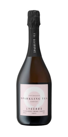 A bottle of Copenhagen non-alcoholic Sparkling Tea.