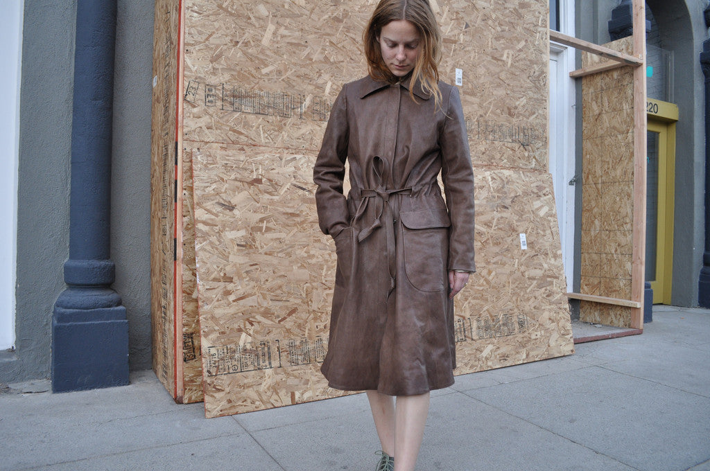 Cherevichkiotvichki Leather Coat, Brown