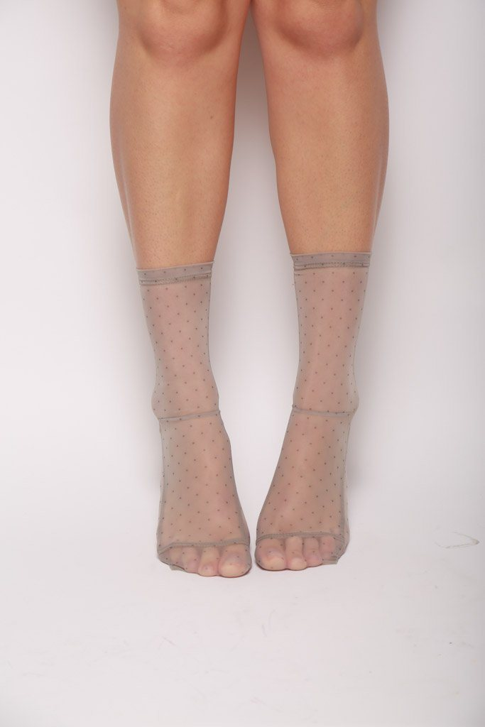 Mesh Socks, Mini Dots