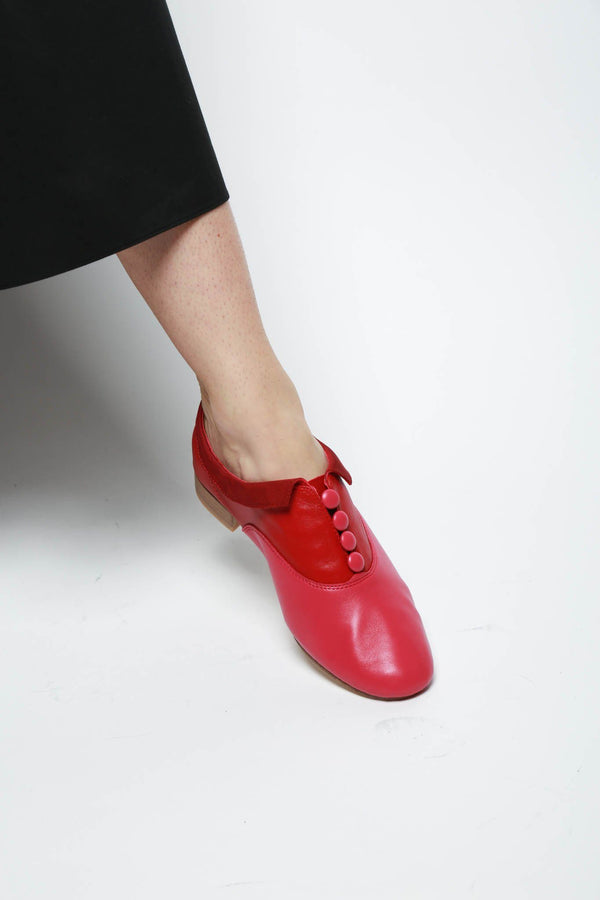Repetto Zizi Rich x Sia Slip-On Loafer, Red + Fuchsia Flats