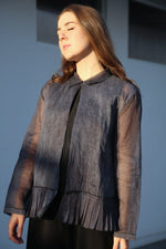 Boxy Jacket, Cold Dyeing Navy
