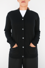 Boy Cardigan, Black, Tops, 6397, Mona Moore