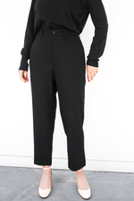 Caryl Trouser, Black, Bottoms, 6397, Mona Moore