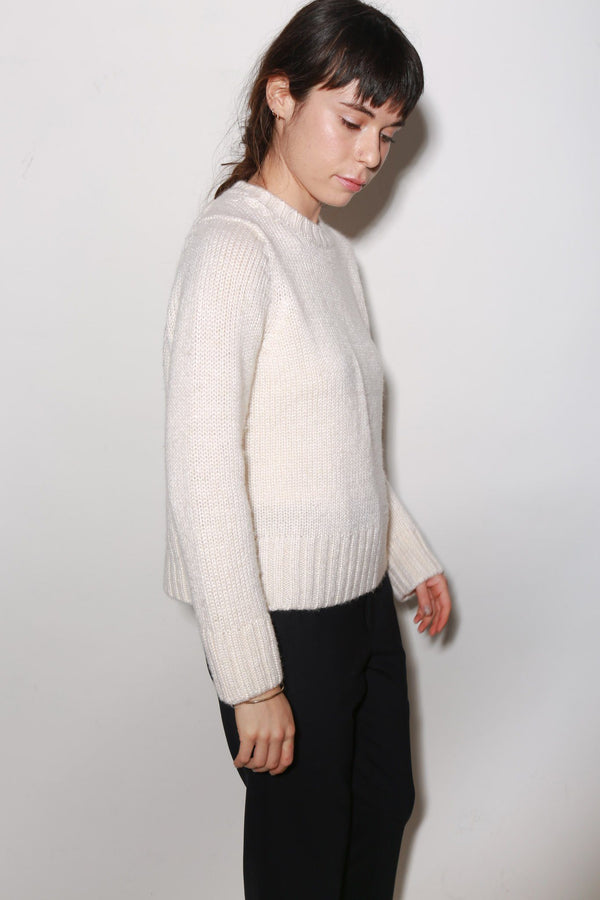 ARCH THE Knit Sweater, Cream Tops