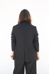 Mini Lapel Blazer, Black