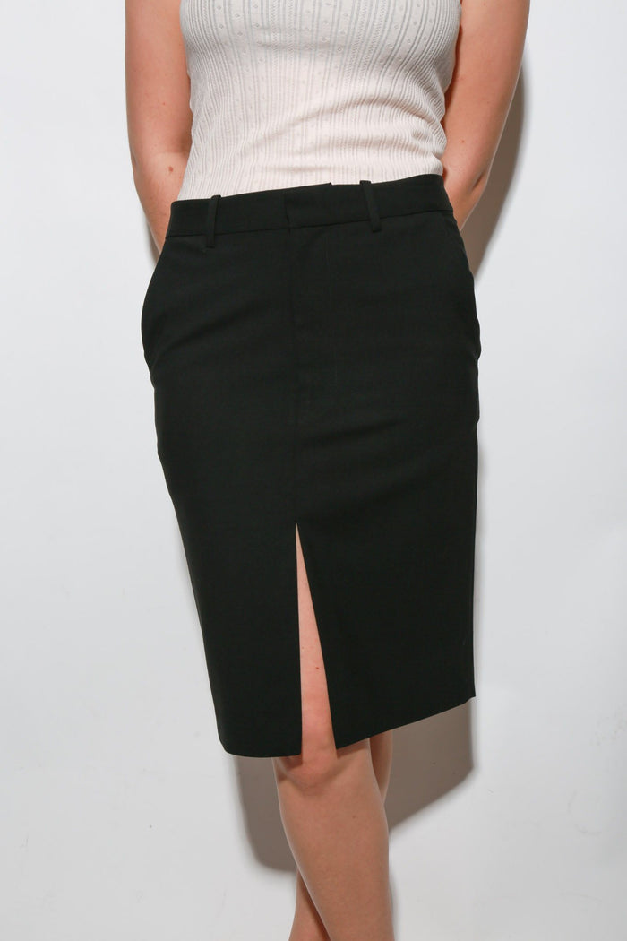 6397 Trouser Skirt, Black Bottoms
