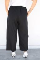 6397 SIZE XS, Wide Leg Pull On Pants, Black Bottoms