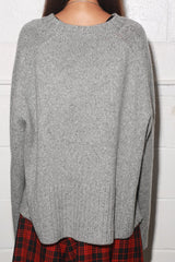 Wide Rib Sweater, Heather Grey