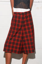 6397 l Women's Skort, Red Plaid l Bottoms