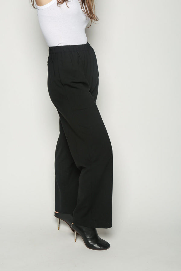 6397 6397 Long WIde leg Pull On Black Bottoms