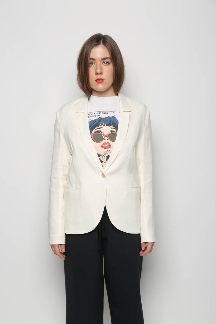 6397 6397 Summer Blazer, White Coats + Jackets