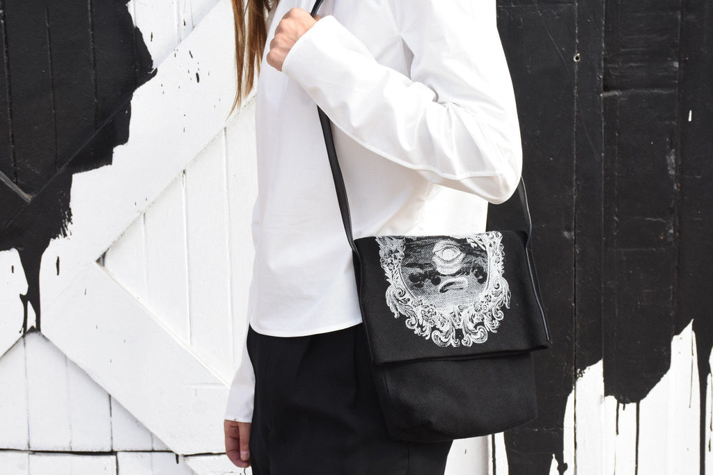 Brusco Bag, Black + White Print