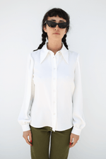 Pointed Collar Blouse, Ivory