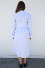 Alexa Chung Seamed Shirt Dress, Pale Blue + White Dresses + Jumpsuits