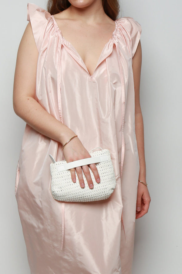 Marsell Fantasmino Woven Bag, White Bags