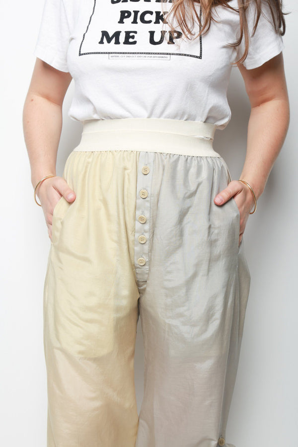 Cherevichkiotvichki Adjustable Summer Trousers, Grey + Beige Bottoms