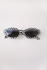 Desir, Black White Damier + Grey Glass, Sunglasses, Alain Mikli, Mona Moore
