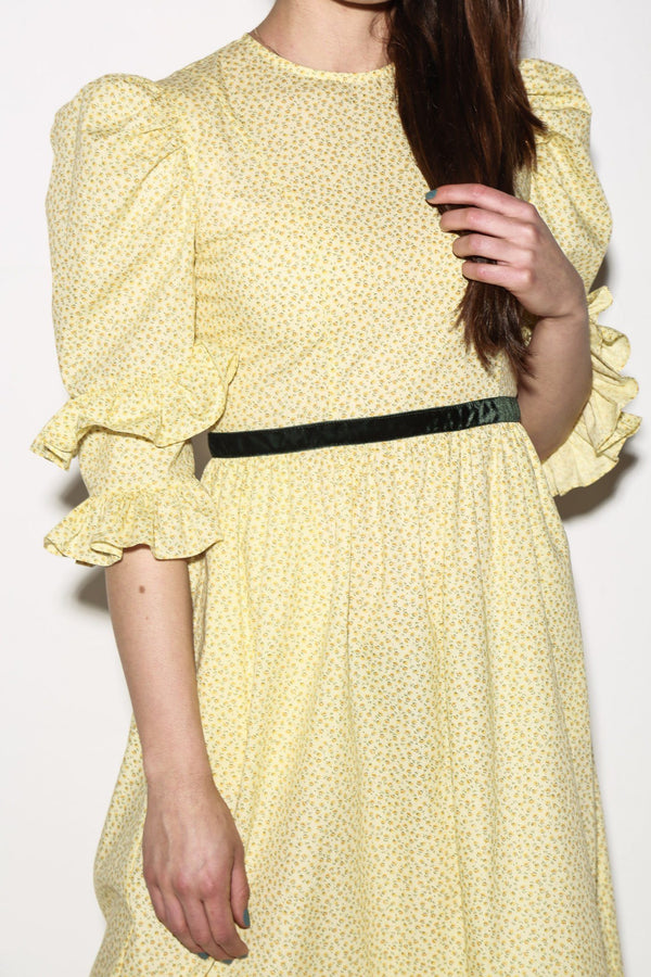 Batsheva Floral Double Dress, Yellow Dresses + Jumpsuits