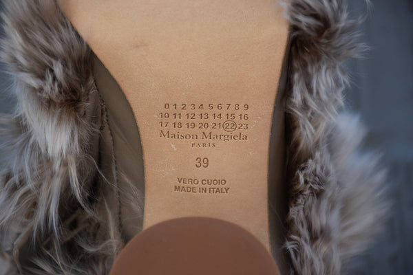 Maison Margiela Size 36, Sock Boot, Brown Delave Boots