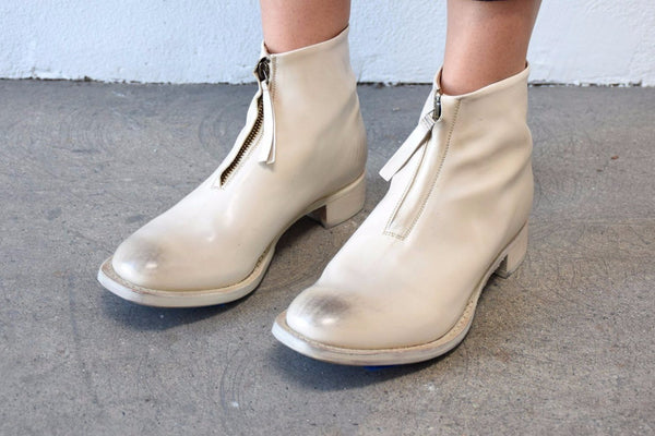 Cherevichkiotvichki One Piece Zip Boot, White Boots