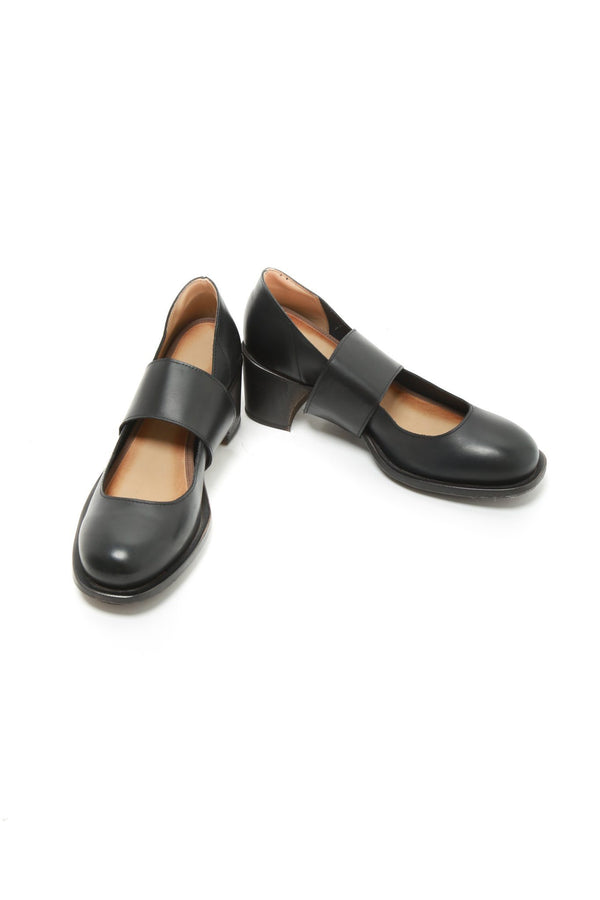 Cherevichkiotvichki Cherevichkiotvichki Riveted Mid Heel Pump Blake, Black W/ Natural Sole Shoes