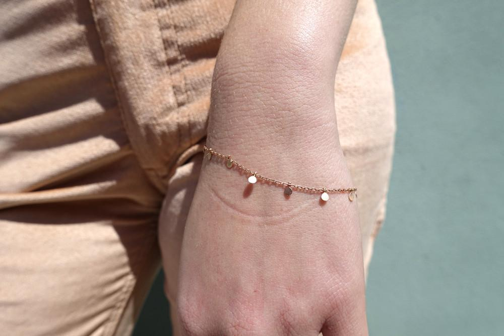 Even Dots Bracelet, 18K Rose Gold