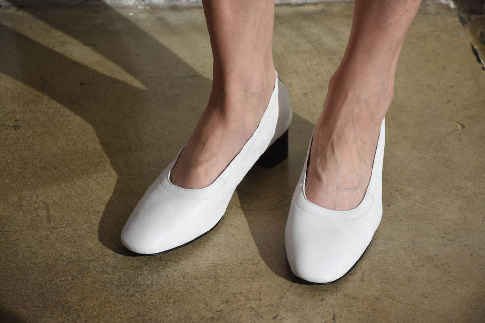 Poket Pumps, White