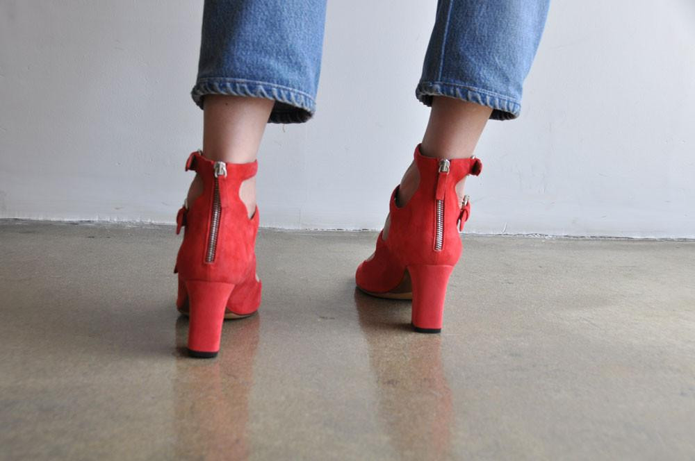 Ginger Pumps, Poppy Red