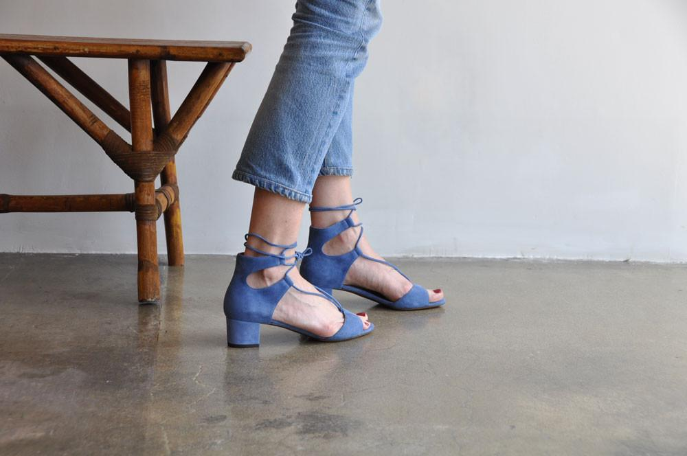 Tallia Lace-Up Sandal, Denim