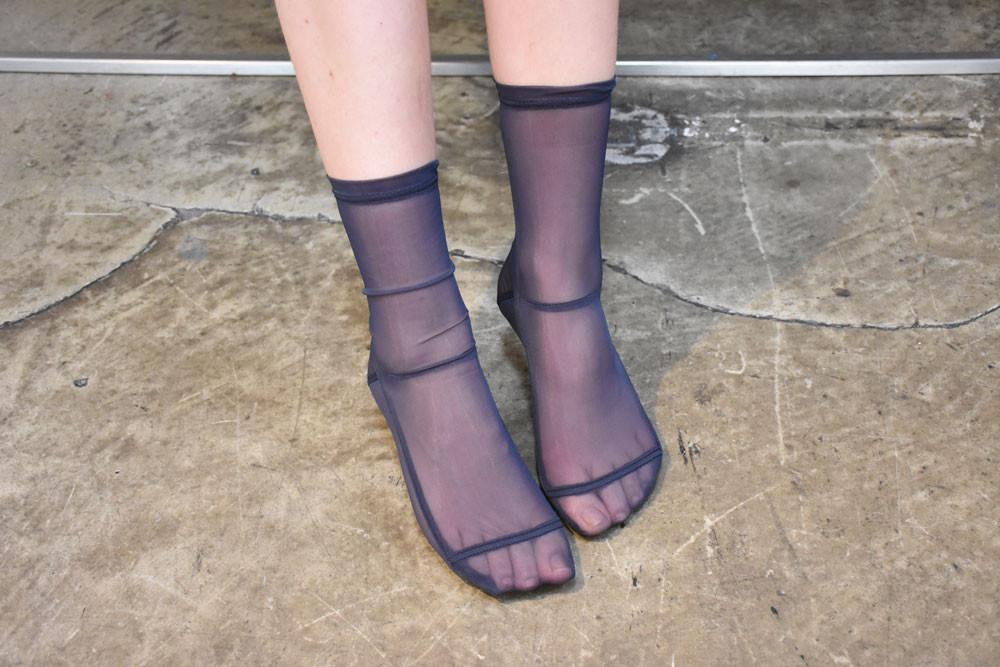 Mesh Socks, Monochrome