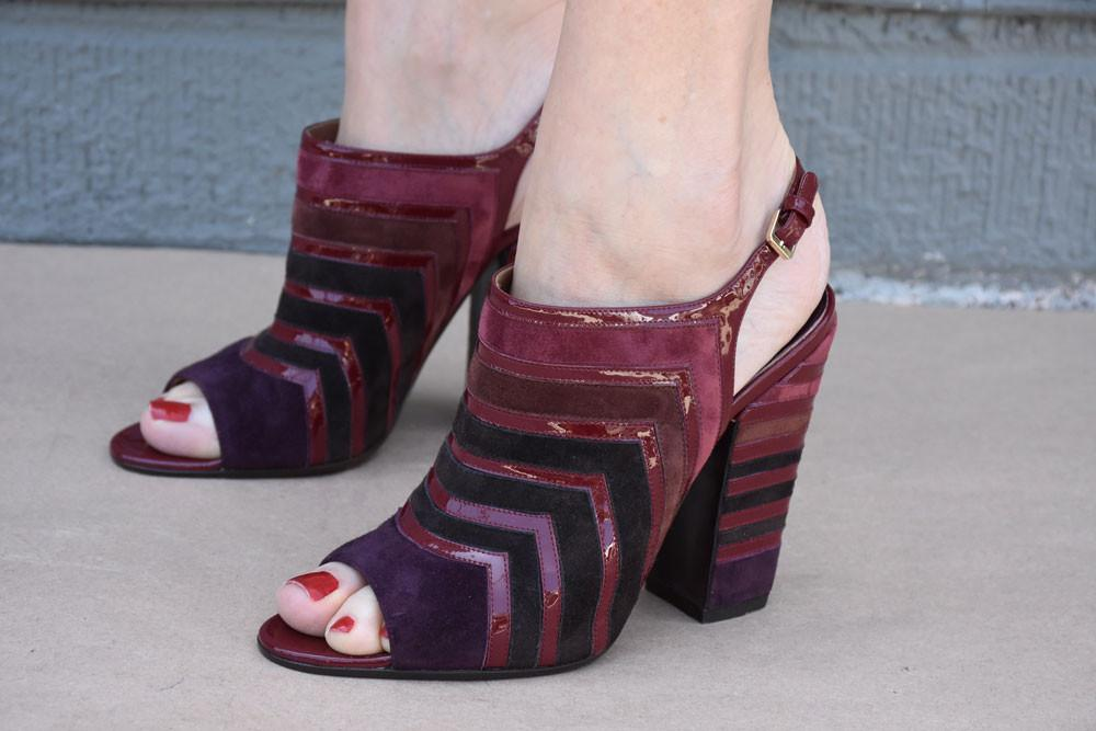 May Slingback, Burgundy
