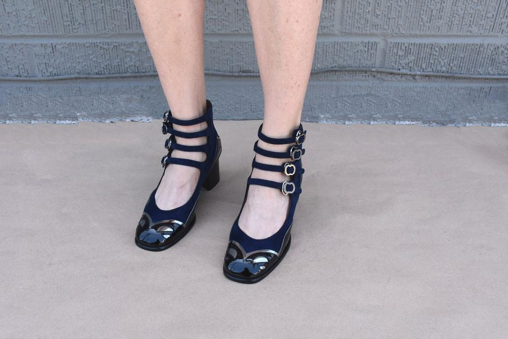 Lolita Pump, Navy/ Black