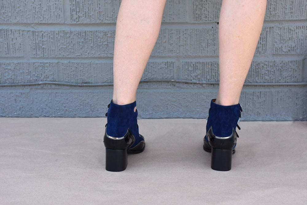 Size 40+41 Lolita Pump, Navy/ Black