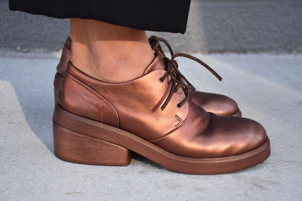 Bo Ceppo Lace-Up Oxfords,Copper Metallic