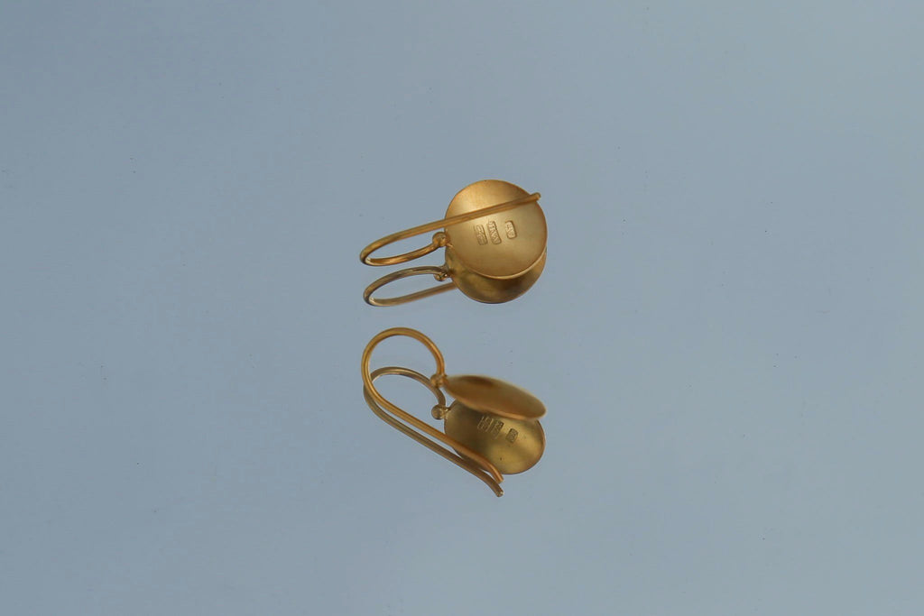 Darlene de Sedle, 22k Gold Small Sundisc Earrings, Single Detail