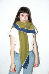 Destin Zeir Wrap Scarf, Avocado + Navy Scarves