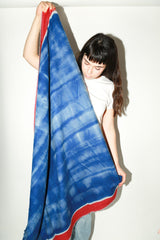 Zeir Wrap Scarf, Blue+Red