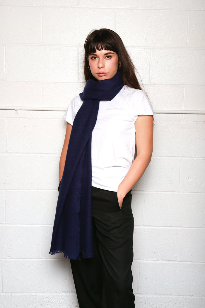 Dianora Salviati Chara Cashmere Scarf, Available in Five Colorways Scarves NAVY