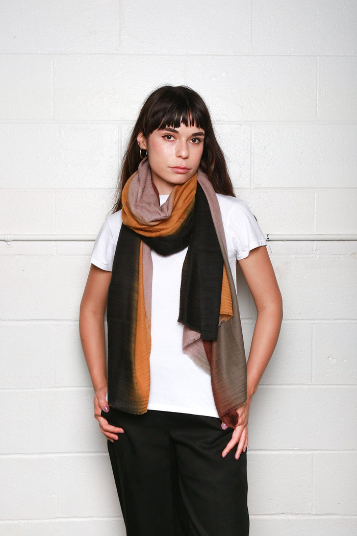Dianora Salviati Fenice Cashmere Scarf, Available in Three Colorways Scarves BROWN