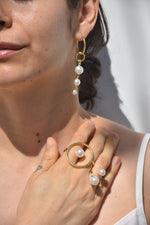 Joomi Lim Open Ring with Pearls, Gold + Pearls Jewelry