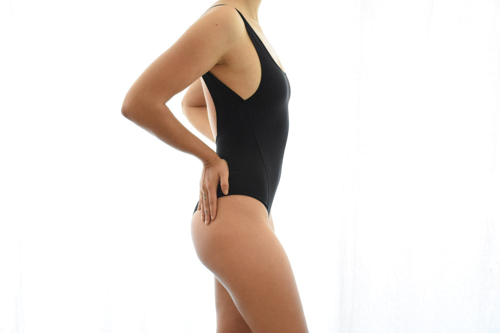 Pony Beam Bodysuit, Noir
