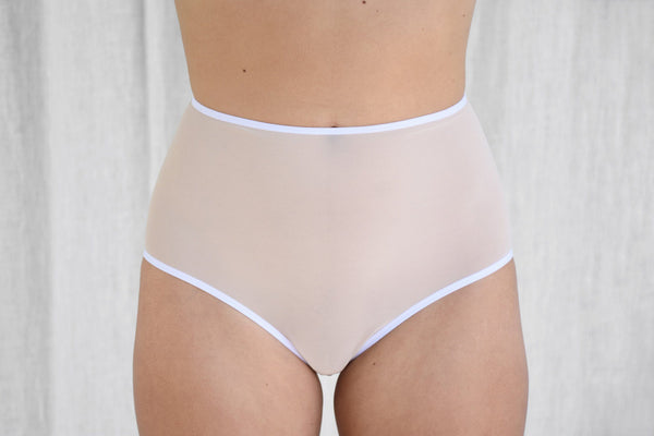 La Fille d'O Confetti Cave High Rise Briefs, Teint underpinnings