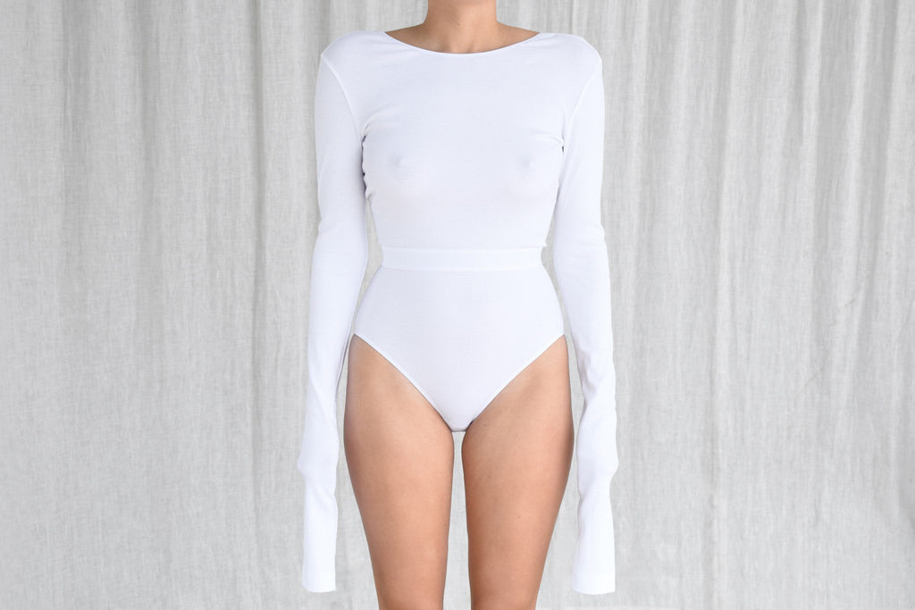Mission Bodysuit, Optical White
