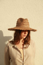 Filù Hats Batu Tara Rafia Straw Hat, Brown Scarves