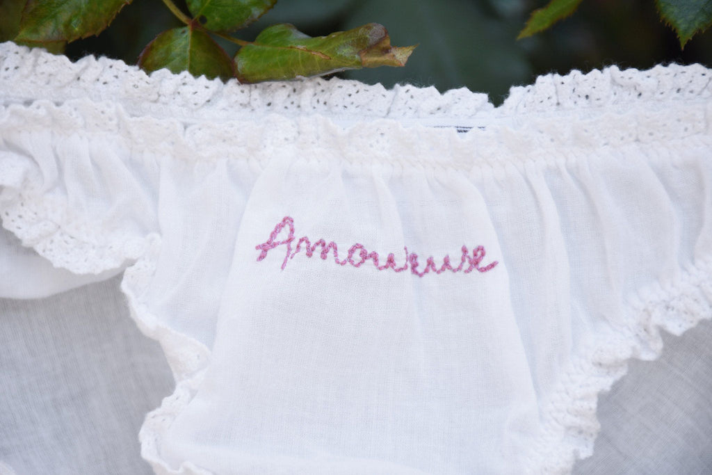 Amoureuse / Culotte Brief Set, Old Rose + Red