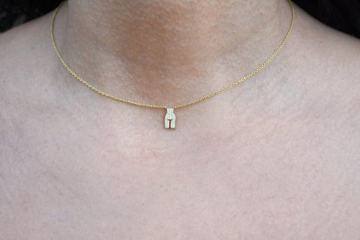 Micro Pave Necklace, Gold, Jewelry, Ideal Woman, Mona Moore - Mona Moore