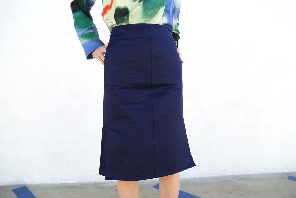 Straight Skirt, Chinese Blue