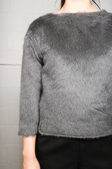 Lemaire Hairy Sweater, Anthracite Tops